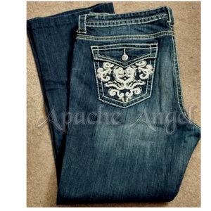 a.n.a Rhinestone Rivet Boot Cut Jeans 18Tall